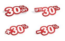 uma promoção de 30 por cento Imagens de Stock