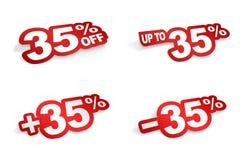 uma promoção de 35 por cento Imagens de Stock