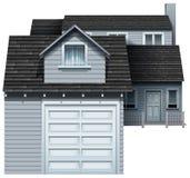 Uma propriedade residencial cinzenta grande Imagem de Stock