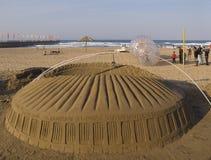 Uma réplica da areia do estádio de Moses Mabhida, Afr sul Imagem de Stock