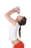 Uma rapariga encantador em um branco Fotografia de Stock Royalty Free