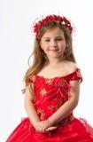 Uma rapariga no traje Fotografia de Stock Royalty Free