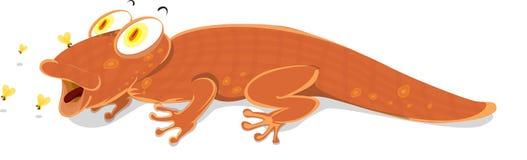 Uma rapina de travamento do lagarto Imagens de Stock Royalty Free