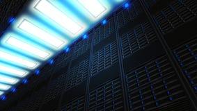 Uma rede com suporte na internet moderna e das telecomunicações do Internet tecnologia ilustração royalty free