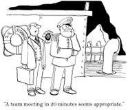 Uma reunião da equipe em 20 minutos parece apropriada Foto de Stock
