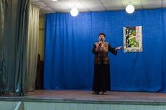 Uma reunião festiva e um concerto em 9 podem 2017 na região de Kaluga de Rússia Fotografia de Stock Royalty Free
