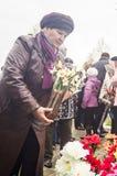 Uma reunião festiva e um concerto em 9 podem 2017 na região de Kaluga de Rússia Foto de Stock