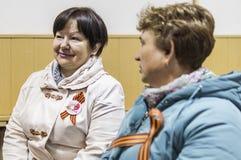 Uma reunião festiva e um concerto em 9 podem 2017 na região de Kaluga de Rússia Fotos de Stock Royalty Free
