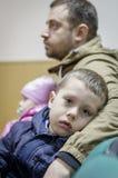 Uma reunião festiva e um concerto em 9 podem 2017 na região de Kaluga de Rússia Fotografia de Stock
