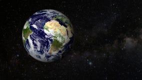 Uma revolução animado da terra do planeta ilustração stock
