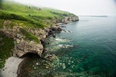 Uma rocha dada forma elefante bebe a água do mar foto de stock royalty free