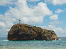 Uma rocha do fenômeno de Saint está dentro   Crimeia Fotografia de Stock
