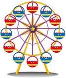 Uma roda de ferris Fotografia de Stock