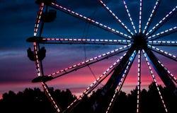 Uma roda de Ferris no Deerfield justo em Deerfield, New Hampshire, o 26 de setembro de 2014 Fotos de Stock