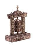 Uma roda de oração feita do bronse Imagens de Stock Royalty Free