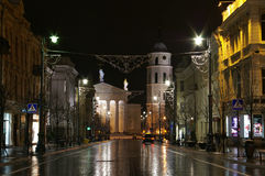 Uma rua. Imagem de Stock