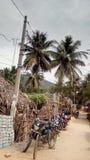Uma rua da vila Fotografia de Stock