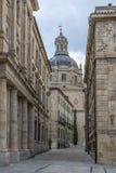 Uma rua do centro da cidade de Salamanca Imagem de Stock Royalty Free