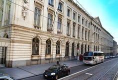 Uma rua em Bruxelas Fotografia de Stock Royalty Free
