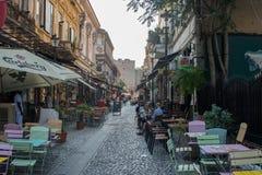 Uma rua em Bucareste imagem de stock royalty free