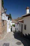 Uma rua em granada Imagem de Stock Royalty Free