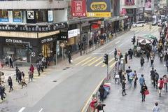 Uma rua em Hong Kong Central Imagem de Stock Royalty Free