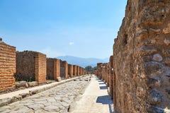 Uma rua em Pompeii Foto de Stock