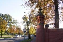 Uma rua em Wittenberg em Alemanha Imagens de Stock Royalty Free