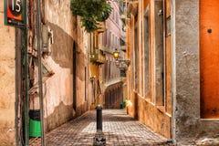 Uma rua muito acolhedor de San Juan Imagem de Stock