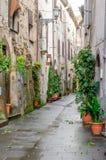 Uma rua na vila de Marta imagens de stock royalty free