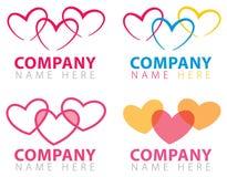 Logotipo da conexão do coração Imagem de Stock Royalty Free