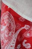 Uma saia vermelha imagem de stock royalty free