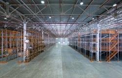 Uma sala de armazenamento grande Fotografia de Stock Royalty Free
