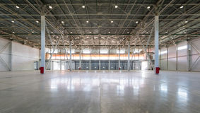 Uma sala de armazenamento grande Fotografia de Stock