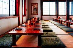 Uma sala de chá em Japão fotografia de stock