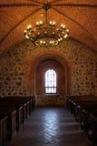 Uma sala em um castelo de Trakai, Lituânia Fotos de Stock