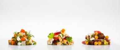 Uma salada da parte Imagem de Stock Royalty Free