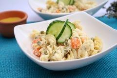 Uma salada fresca dos macarronetes Foto de Stock Royalty Free