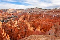 Uma seção do anfiteatro no ponto do por do sol - parque nacional da garganta de Bryce, Utá Fotos de Stock