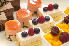Uma seleção das sobremesas Imagem de Stock