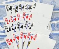 Cartões - póquer Foto de Stock Royalty Free