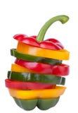 Uma seleção de pimentas doces coloridas Foto de Stock