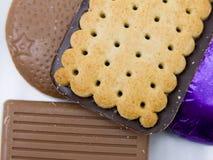 Uma seleção dos biscoitos fotografia de stock