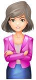 Uma senhora com um blazer cor-de-rosa Fotografia de Stock Royalty Free