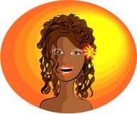 Uma senhora de sorriso Ilustração do Vetor