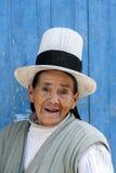 Uma senhora peruana em Maras no Peru Imagens de Stock