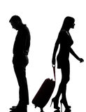 Uma separação da disputa do homem e da mulher dos pares imagens de stock