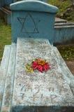 Uma sepultura no cemitério judaico, walaka, Etiópia Imagens de Stock