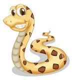 Uma serpente de sorriso ilustração stock
