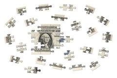 Uma serra de vaivém do dólar Fotografia de Stock